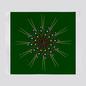 Snooker Cues and Balls Circle Throw Blanket