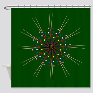 Snooker Cues and Balls Circle Shower Curtain