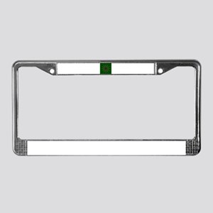 Snooker Cues and Balls Circle License Plate Frame
