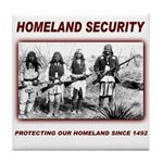 Homeland Security Native Pers Tile Coaster