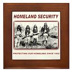 Homeland Security Native Pers Framed Tile
