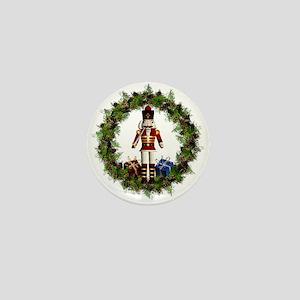 Red Nutcracker Wreath Mini Button