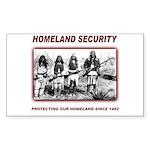 Homeland Security Native Pers Sticker (Rectangular