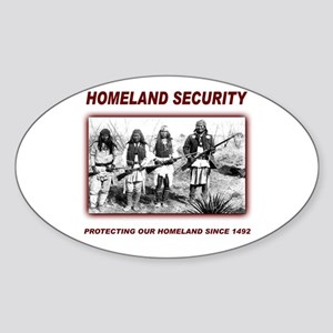 Homeland Security Native Pers Oval Sticker
