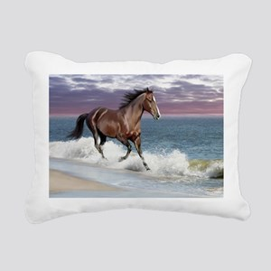 Dreamer_on_beach Rectangular Canvas Pillow