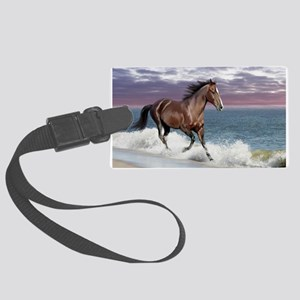 Dreamer_on_beach Large Luggage Tag
