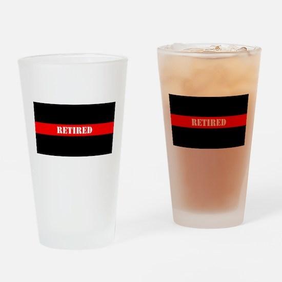 Retired Firefighter Drinking Glass