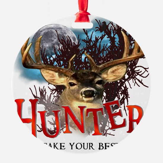 Hunter take your best shot Deer Ornament