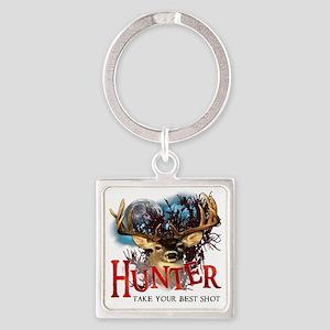 Hunter take your best shot Deer Square Keychain