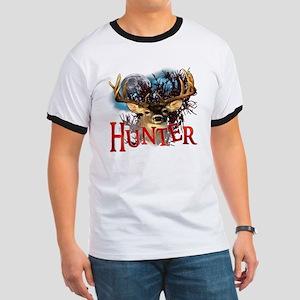 Hunter take your best shot Deer White Tex Ringer T