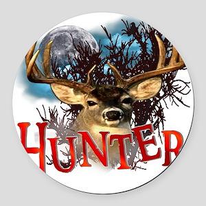 Hunter take your best shot Deer W Round Car Magnet