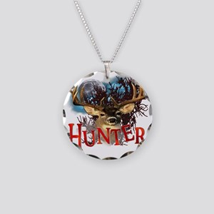 Hunter take your best shot D Necklace Circle Charm