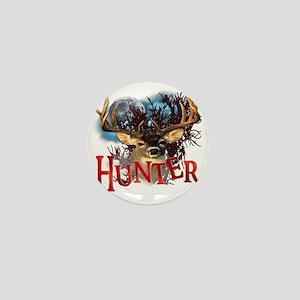 Hunter take your best shot Deer White  Mini Button