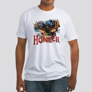 Hunter take your best shot Deer Whi Fitted T-Shirt