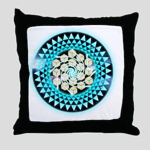 Metatrons Cube Crop-Circle Throw Pillow