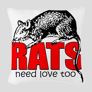 ratsneedlovetoo Woven Throw Pillow
