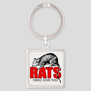ratsneedlovetoo Square Keychain
