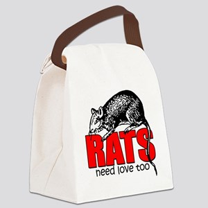 ratsneedlovetoo Canvas Lunch Bag