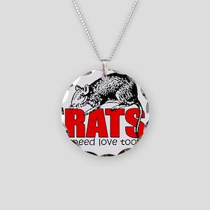 ratsneedlovetoo Necklace Circle Charm