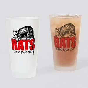 ratsneedlovetoo Drinking Glass