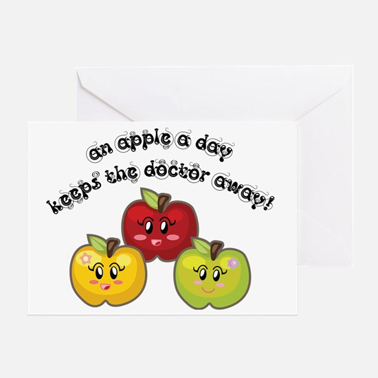 an apple a daycopy Greeting Card