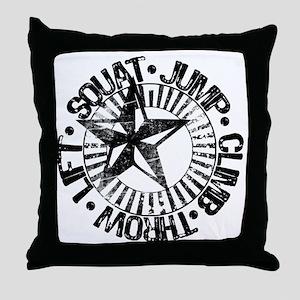 squat_jump_climb_throw_lift2 Throw Pillow