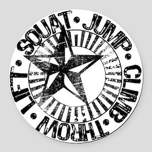 squat_jump_climb_throw_lift2 Round Car Magnet