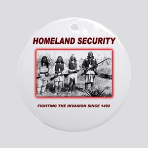 Homeland Security Native Ornament (Round)