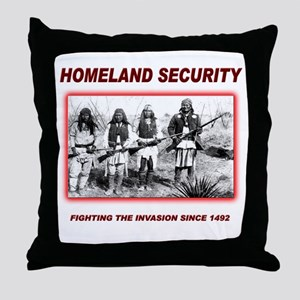 Homeland Security Native Throw Pillow
