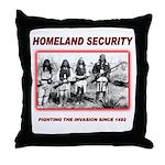 Homeland Security Native Throw Pillow