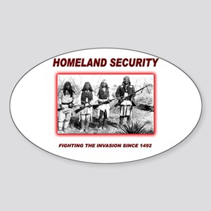 Homeland Security Native Sticker (Oval)