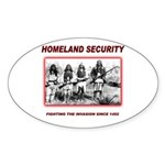Homeland Security Native Sticker (Oval)