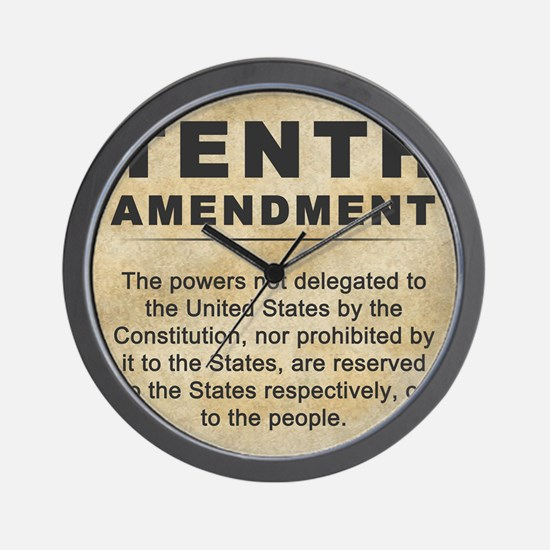 jan12_tenth_amendment_1 Wall Clock