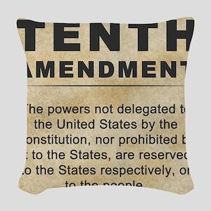 jan12_tenth_amendment_1 Woven Throw Pillow