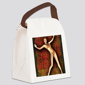 BikiniGirl9-12 Canvas Lunch Bag