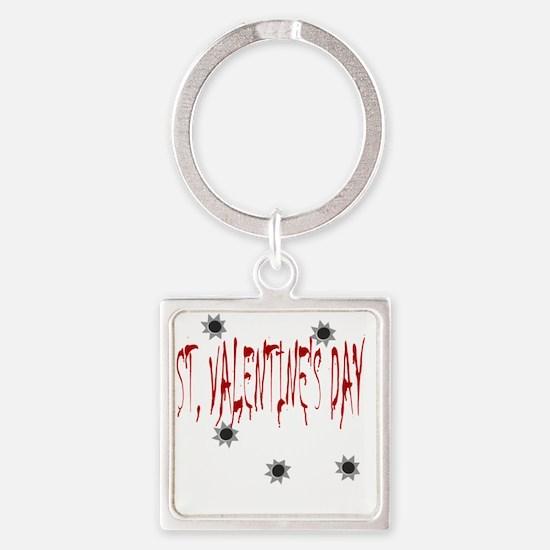 St Valentines Day Massacre Square Keychain