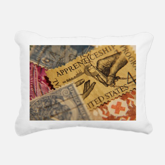 Stamps Rectangular Canvas Pillow