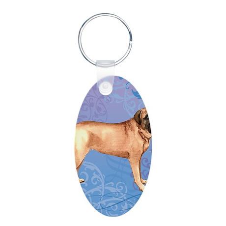 mastiff-key1 back Aluminum Oval Keychain