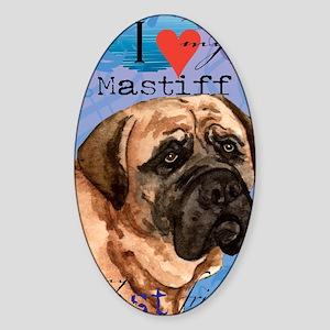 mastiff-iPad Sticker (Oval)