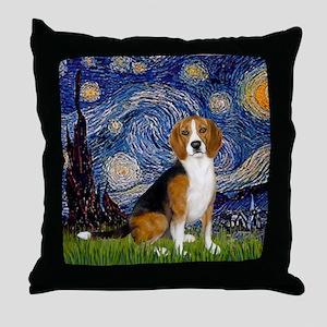 Z-16x20-Starry-Beagle7 Throw Pillow