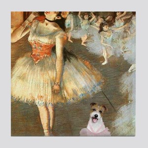 Z-16x20-Dancers-JackRussell11 Tile Coaster