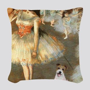 Z-16x20-Dancers-JackRussell11 Woven Throw Pillow