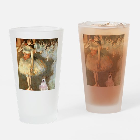 Z-16x20-Dancers-JackRussell11 Drinking Glass