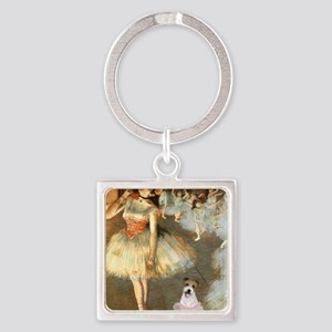 Z-16x20-Dancers-JackRussell11 Square Keychain
