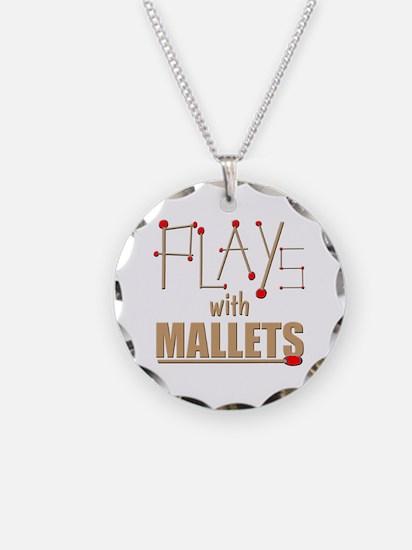 mallets percussion marimba x Necklace Circle Charm