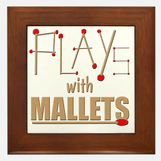 mallets percussion marimba xylophone m Framed Tile