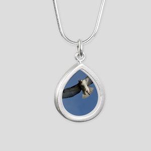 Juv Redtail Tile Silver Teardrop Necklace
