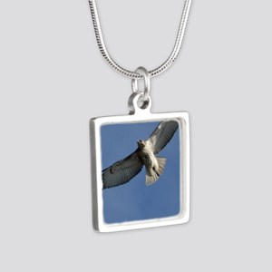 Juv Redtail Tile Silver Square Necklace