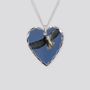 Juv Redtail Tile Necklace Heart Charm