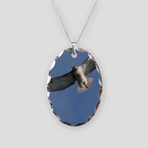 Juv Redtail Tile Necklace Oval Charm